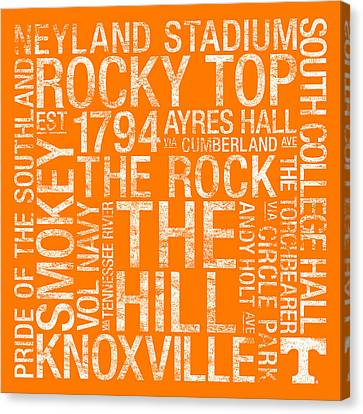 Tennessee College Colors Subway Art Canvas Print by Replay Photos