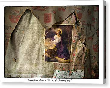Tennessee Jesus Shack Five Generations Canvas Print by James Neiss