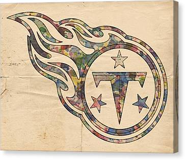 Tennessee Titans Poster Art Canvas Print by Florian Rodarte