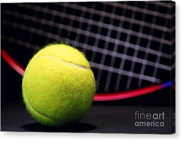 Tennis Ball And Racket Canvas Print by Olivier Le Queinec