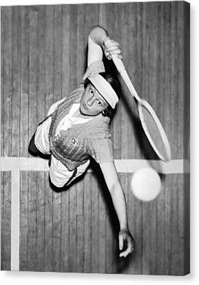Tennis Champ Sylvia Henrotin Canvas Print by Underwood Archives