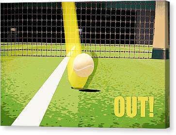 Tennis Hawkeye Out Canvas Print by Natalie Kinnear