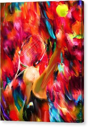 Tennis I Canvas Print by Lourry Legarde