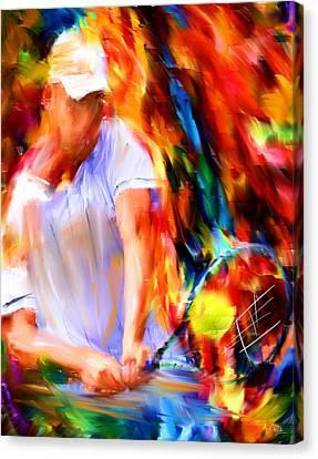 Tennis II Canvas Print by Lourry Legarde