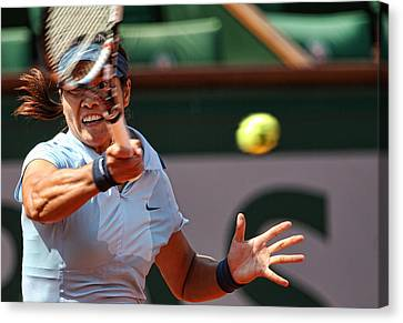Tennis Na Li Canvas Print by Srdjan Petrovic