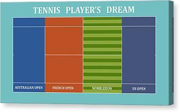 Tennis Player-s Dream Canvas Print by Carlos Vieira