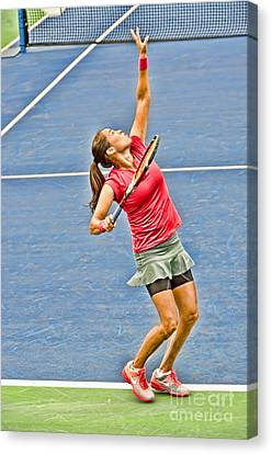 Tennis Star Jamie Hampton Canvas Print by Harold Bonacquist