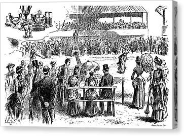 Tennis Wimbledon, 1884 Canvas Print by Granger
