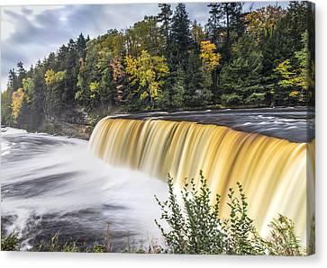 Tahquamenon Falls In Autumn  Canvas Print by John McGraw