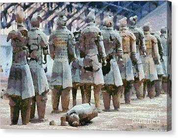 Terracotta Warriors Canvas Print by George Atsametakis