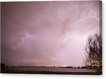 Terry Lake Lightning Thunderstorm Canvas Print by James BO  Insogna