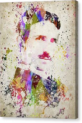 Tesla In Color Canvas Print by Aged Pixel