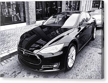 Tesla Model S Canvas Print by Olivier Le Queinec
