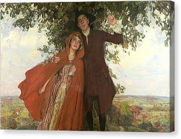 Tess Of The D'urbervilles Or The Elopement Canvas Print by William Hatherell