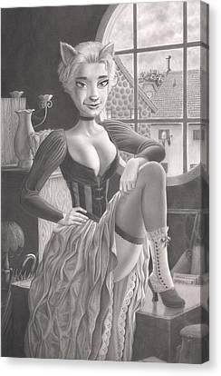 Tess Canvas Print by Richard Moore
