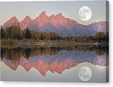 Teton Morning Canvas Print by Charlene  Aycock