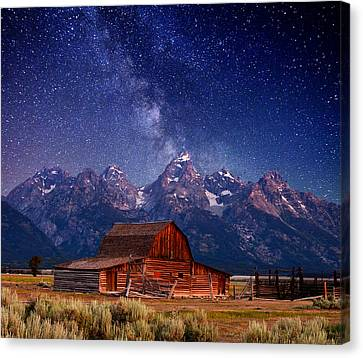 Teton Nights Canvas Print by Darren  White