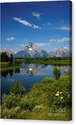 Teton Reflection Canvas Print by Jerry McElroy