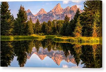 Teton Sunrise Canvas Print by Chris Austin