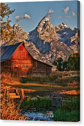 Teton Sunrise Canvas Print by Rob Wilson