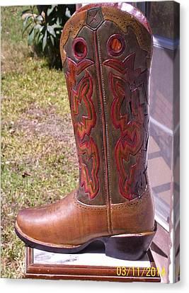 Texas Custom Boot Canvas Print by Michael Pasko