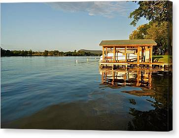 Texas Hill Country Lake Canvas Print by Kristina Deane