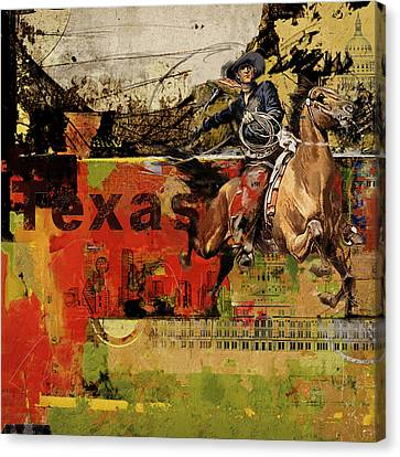 Texas Rodeo Canvas Print by Corporate Art Task Force