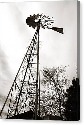 Texas Windmill Canvas Print by Marilyn Hunt
