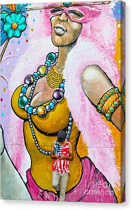Texting Canvas Print by Colleen Kammerer