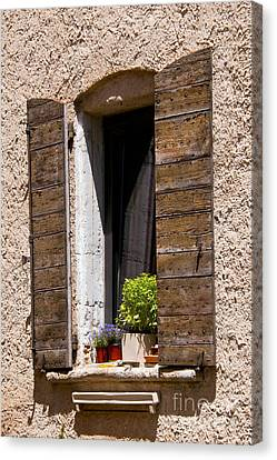 Textured Shutters Canvas Print by Bob Phillips