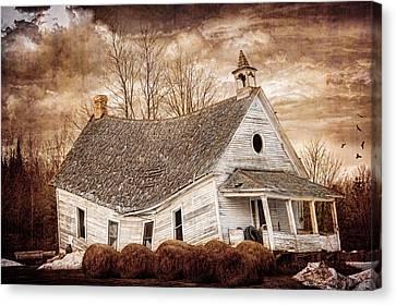 Textured Sway Back School House Canvas Print by Paul Freidlund