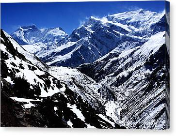 The Annapurna Circuit - The Himalayas Canvas Print by Aidan Moran