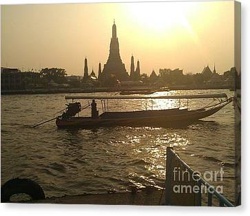 Thai Sunset Canvas Print by Ted Williams