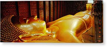 Thailand, Bangkok, Wat Po, Reclining Canvas Print by Panoramic Images