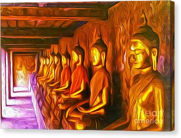 Thailand Buddhas Canvas Print by Gregory Dyer