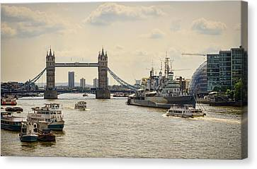 Thames View Canvas Print by Heather Applegate