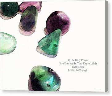 Thank You - Gratitude Rocks By Sharon Cummings Canvas Print by Sharon Cummings