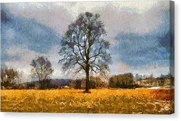 Thanksgiving Day In Ohio Canvas Print by Dan Sproul