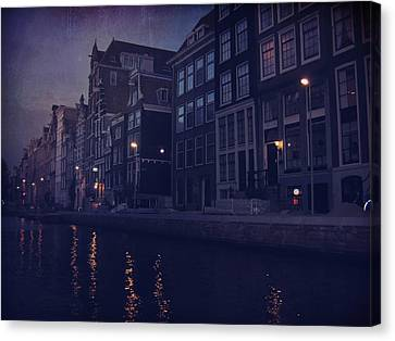 That Evening In Amsterdam Canvas Print by Laurie Search