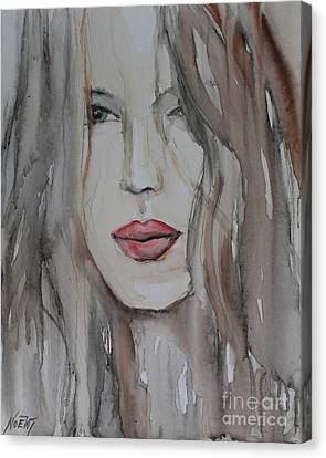 That Lips Canvas Print by Jindra Noewi