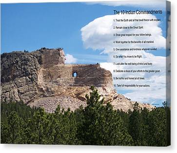 The 10 Indian Commandments Canvas Print by Thomas Woolworth