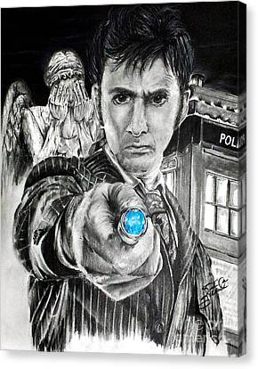The 10th Doctor Canvas Print by S G Williams
