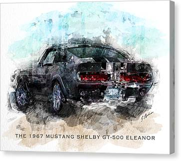 The 1967 Shelby Gt-500 Eleanor Canvas Print by Gary Bodnar