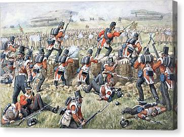 The 23rd Regiment Royal Welsh Fusiliers Canvas Print by Richard Simkin