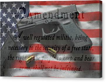 The 2nd Amendment Canvas Print by Dan Sproul