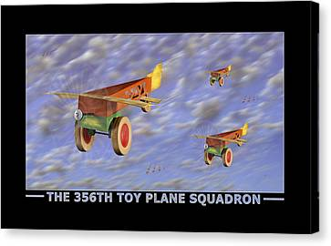 The 356th Toy Plane Squadron Canvas Print by Mike McGlothlen