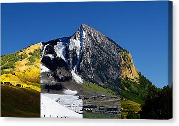 The 4 Seasons In Mt. Crested Butte Canvas Print by Mike Schmidt