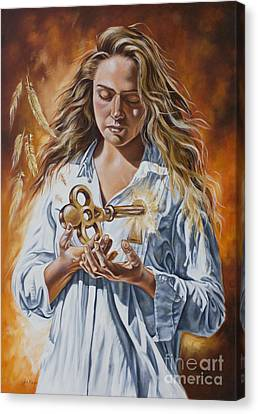 The 7 Spirits Series - The Spirit Of Understanding Canvas Print by Ilse Kleyn