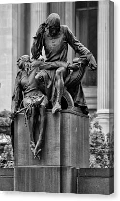 The Actor Statue Philadelphia Canvas Print by Bill Cannon