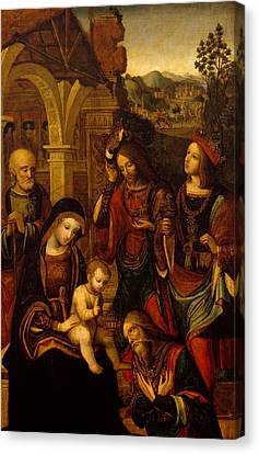 The Adoration Of The Kings Canvas Print by Neapolitan School